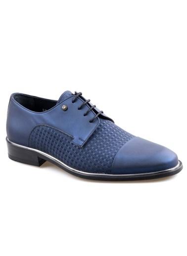 Smart Smart 2518 Lacivert Erkek (39-44) Klasik Bağcıklı Deri Ayakkabı Lacivert